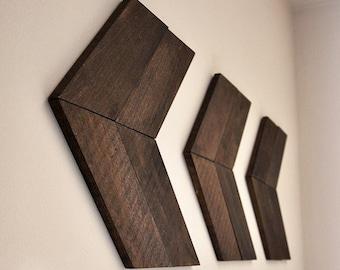 Large Wooden Arrow Chevron (SET OF 3) | Wood Arrows | Wall Art | Arrow Decor | Wood Arrow Sign | Chevron Wood Arrows | Rustic Arrow