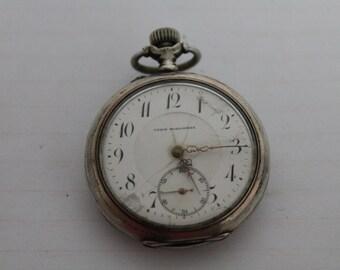 Vintage silver pocket watch