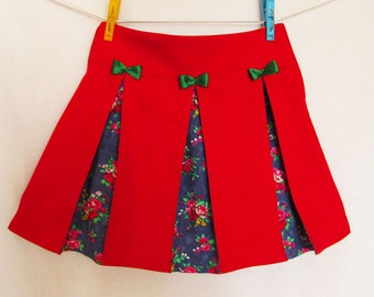 Girls Skirt Pattern Download.Pleats Skirt Pattern.Toddler Sewing Pattern pdf,Baby Skirt Pattern,Children's pattern,handmade sewing patterns.