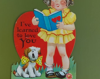 Vintage paper valentine