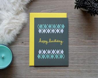 10, 5 X 14, 7 CM - Happy Birthday birthday card