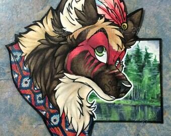 Realistic Background Headshot: Fursona/Fursuit Badge
