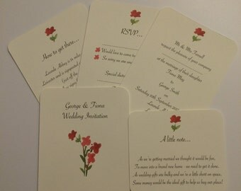 Red Love Wedding Invitations
