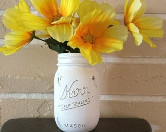 Distressed Mason Jar 16oz