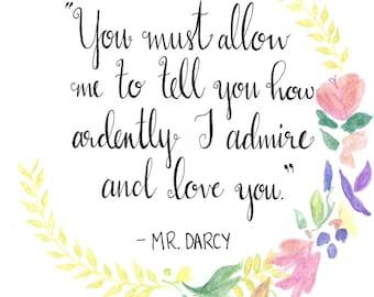 Mr. Darcy Pride and Prejudice Quote