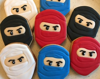Lego Ninjago sugar cookies, Ninja sugar cookies
