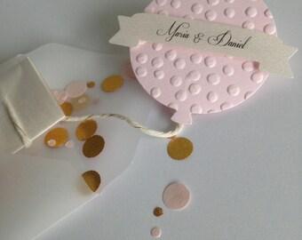 Balloon & Confetti Wedding Invitation