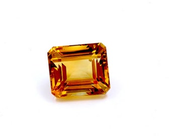Dignity 22 Ct & Up Citrine Emerald Cut Loose Stone