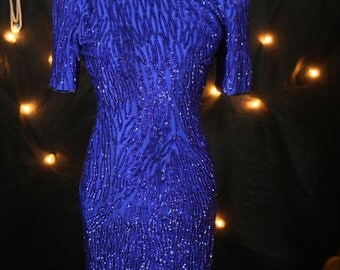 Gorgeous Vintage Stenay sequin beaded dress