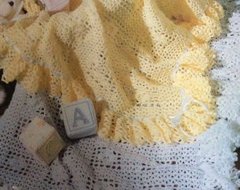 Yellow afghan