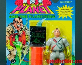 Captain Planet 1991 Series Sly Sludge with Instant Toxic Sludge Action Figure