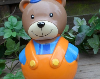 Old Roly Smoby Roly bear, vintage toy, toy rocker, musical toy