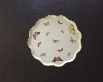 Limoges Butterfly  Pattern Serving Dish