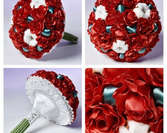 Naturelle brooch bouquet, like realy bridal bouquet, Tutorial flowers; Wedding bouquet READY TO SHIP