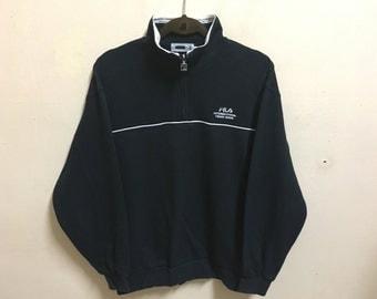 Vintage 90's Fila International Italy Sport Classic Design Skate Sweatshirt Sweater Varsity Jacket Size L #A491