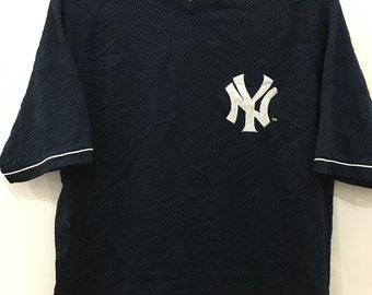 Vintage 90's Major League Baseball New York NY Sport Classic Design Shirt Size M #B64