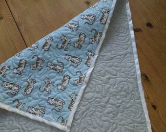 Babys Quilted changing mat/ changing pad and burp cloth set