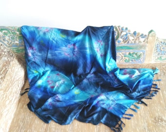 Shawl/Scarves/Beach Sarong/Bali Summer Beach with Ocean Blue Colour