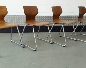 Set of 4 x FLOTOTTO Vintage GERMAN Chairs Design Loft Modern Midcentury