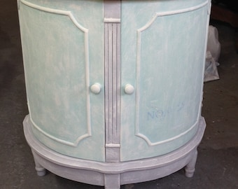 Vintage hand painted accent table