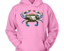 Maryland Blue Crab Hooded Sweatshirt - Wildlife Shirts for Conservation