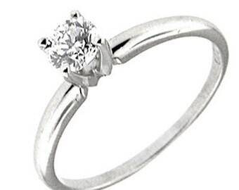 0.46 CT Platinum Diamond Solitaire Engagement Ring