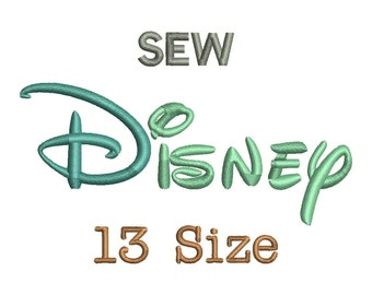 Disney Embroidery Font - 13 Size Monogram Fonts SEW File Format Machine Embroidery Fonts Design -  Instant Download