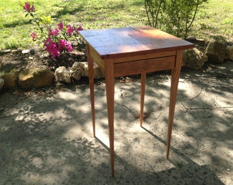 Cherry end table with drawer