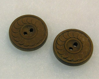 Rare Hard Rubber Buttons by Novelty Rubber Co.