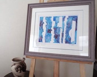 Blue Chaos - Original Artwork Framed