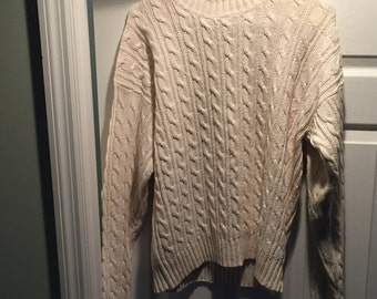 60s vintage saks fifth avenue cable knit sweater