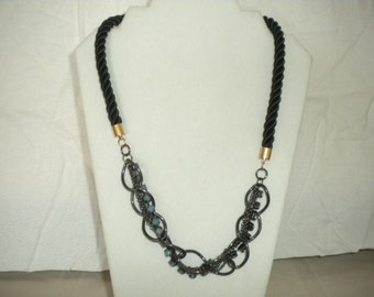Black chained necklace