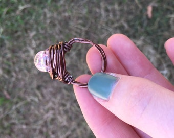 Crystal Wire Wrapped Ring