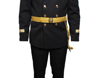 Soviet Naval Captain uniform, Russian black Parade suit