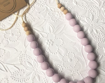 "Silicone Teething Necklace, BPA Free, Food-Grade Materials // ""The Charlee"""