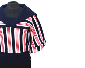 Never-been-worn vintage 1970s knitted sailor top