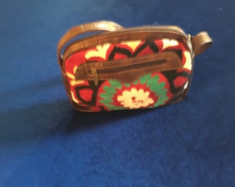 Oval Shape Thick Strap Small Purse