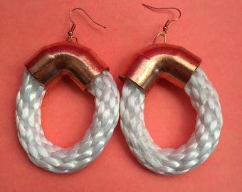 Copper White Rope Hoops