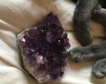 Grunge purple crystal amethyst