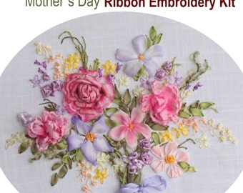 Mother's Day Ribbon Embroidery Kit