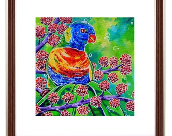 Tweety - Rainbow Lorikeet Art Print Smaller sizes