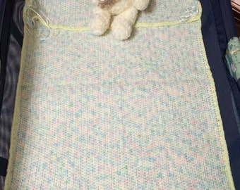 Baby blanket for a crib/handmade/hugging your baby gently with love