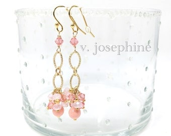 The Georgiana Earring in Coral