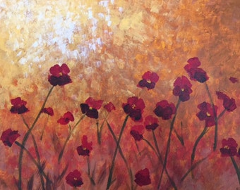 Field of Poppies - Impressionist