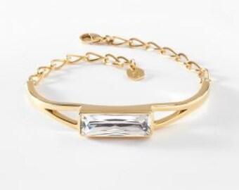 Gold Mine Bracelet - Touchstone Crystal by Swarovski