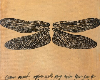 """Dragonfly Wings (6"""" x 6"""")"""