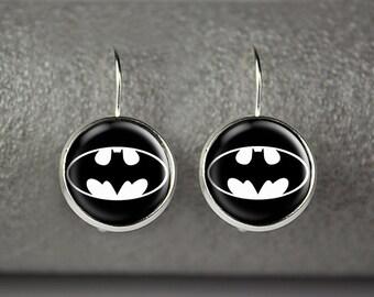 Batman earrings,batman jewelry, batman accessories