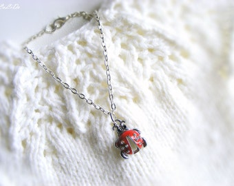 "Doll jewelry, 18 inch doll necklace with ladybug pendant, American Girl doll necklace, jewelry for AG doll, 18"" doll's charm necklace"
