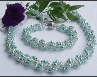 "Jewelery Set ""Blue Lagoon"""