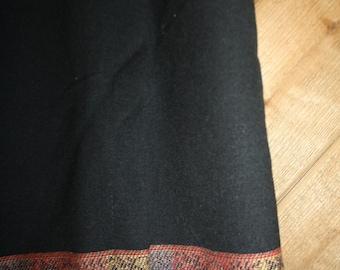 black linen skirt with detail